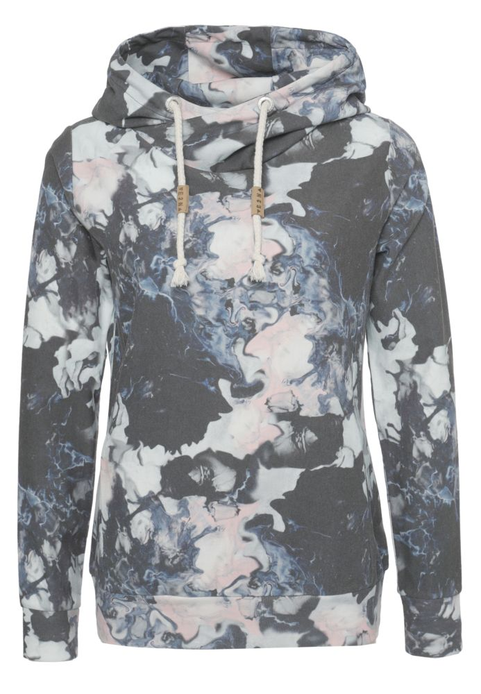 Sweathoodie - Alloverprint Blau