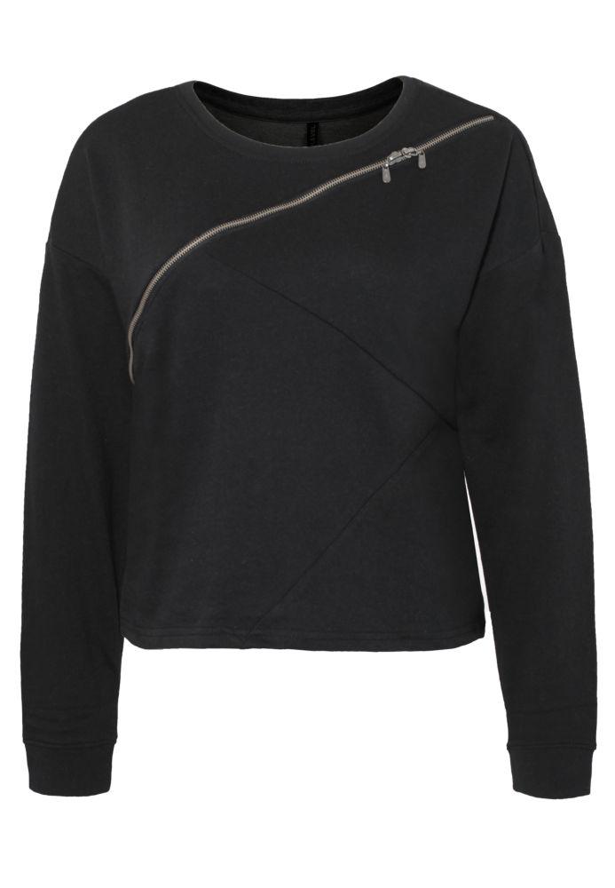Cropped Sweatshirt mit Zipper