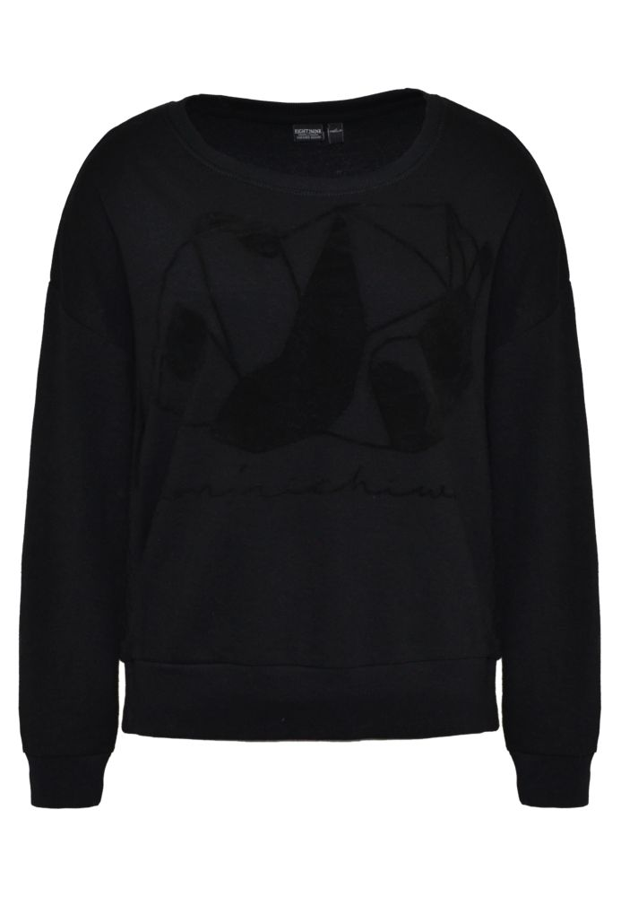 Sweatshirt mit Flockprint