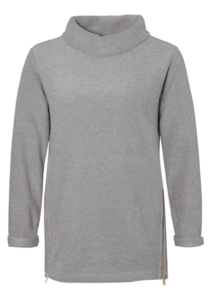 Rollkragen Sweat - Pullover