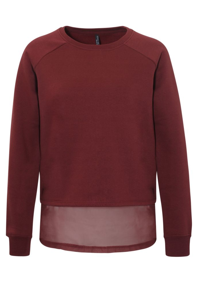 2-in-1 Sweater mit Blusensaum