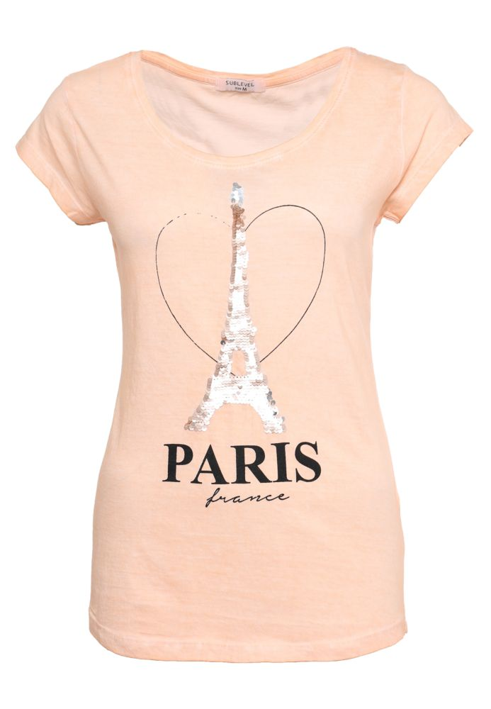 Shirt - Wendepailletten Paris