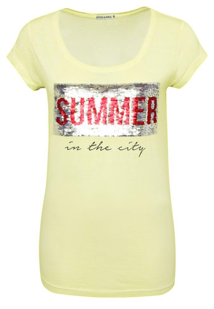 Shirt - Wendepailletten Summer