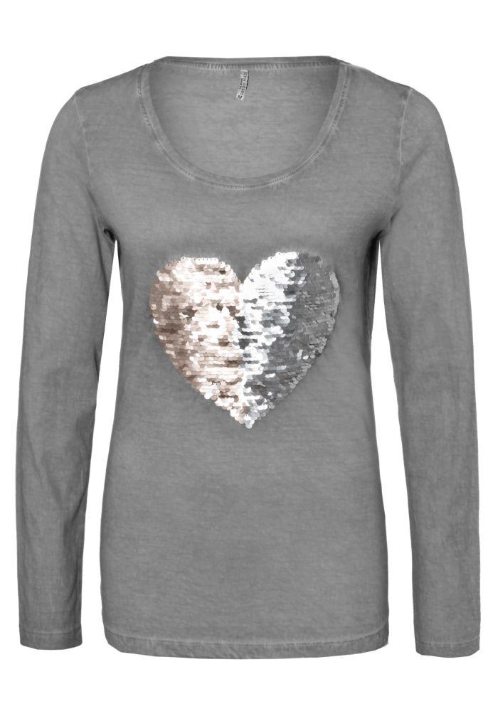 Shirt - Wendepailletten Herz