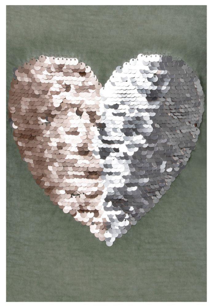 Vorschau: Shirt - Wendepailletten Herz