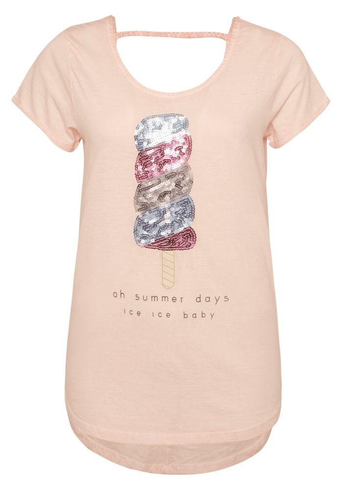 T-Shirt - Eis aus Pailletten