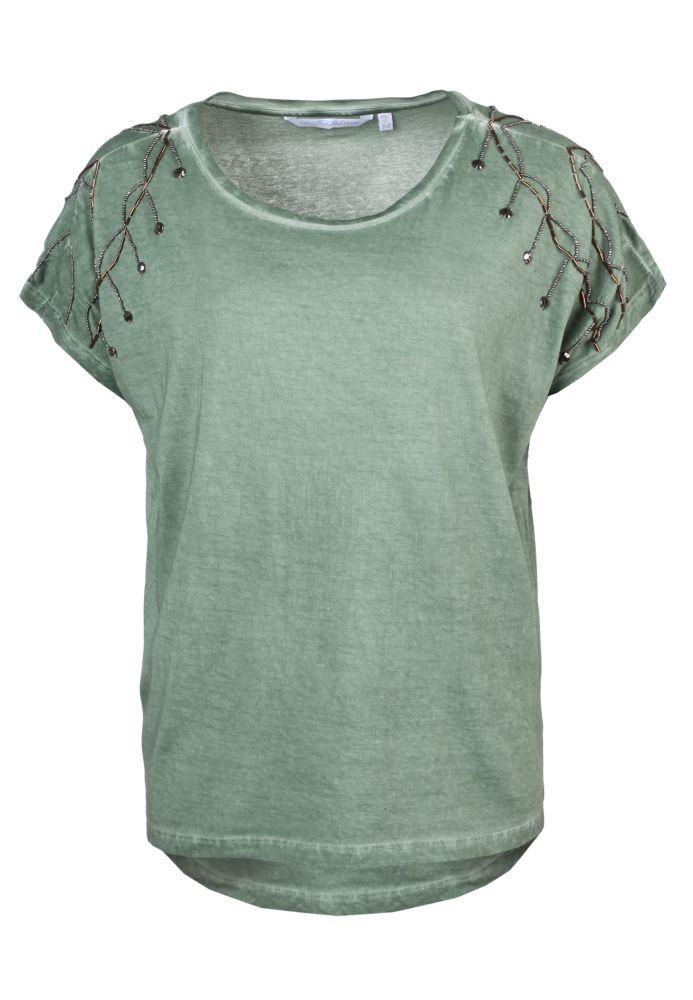 Shirt mit Perlen-Applikation