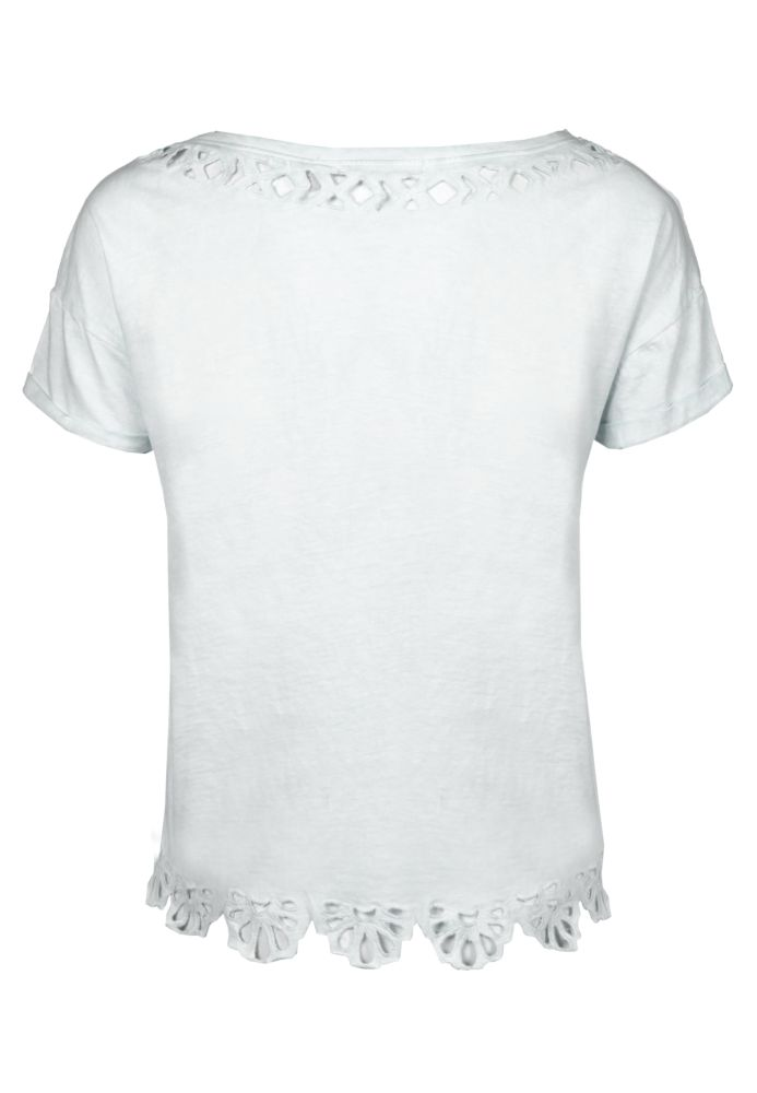 Vorschau: Crop Shirt mit Spitze
