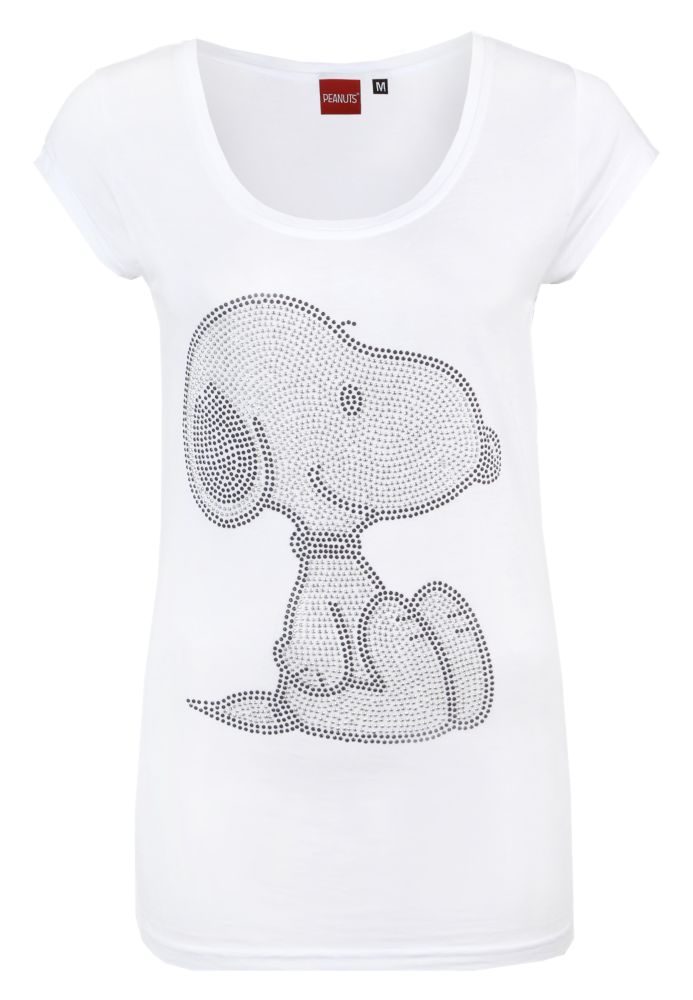 snoopy strass shirt damen t shirt kurzarm. Black Bedroom Furniture Sets. Home Design Ideas