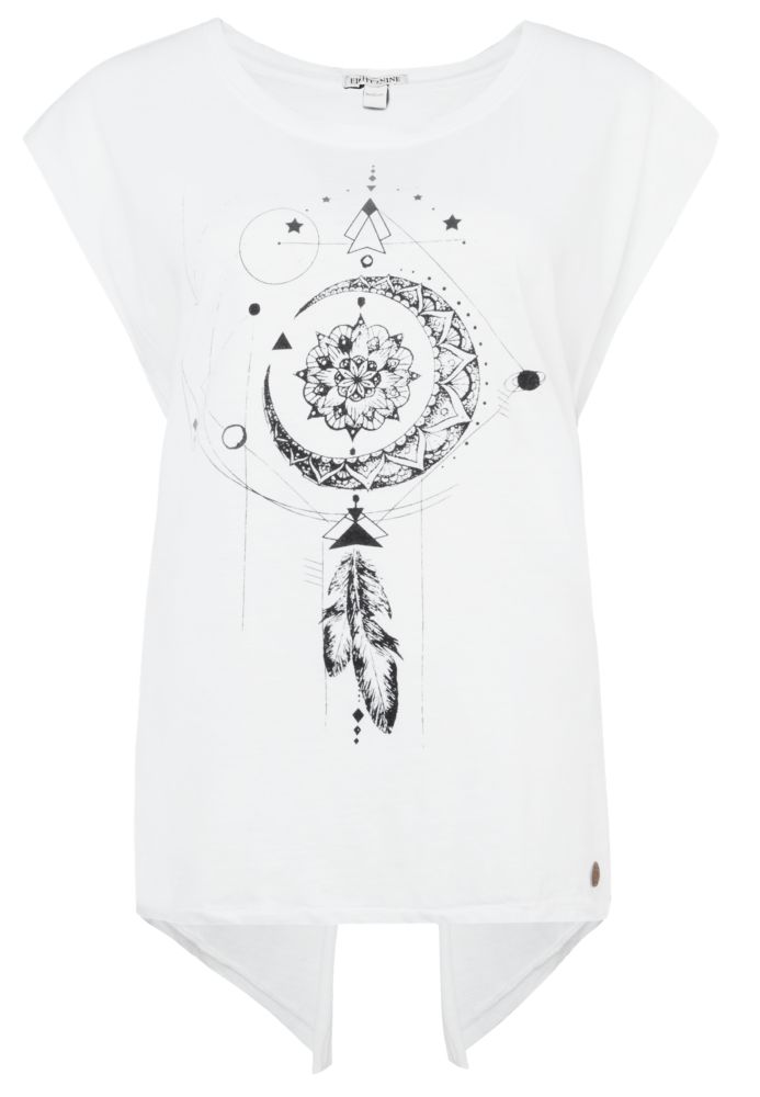 T-Shirt mit Rückenschlitz