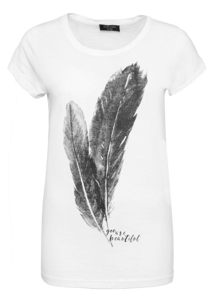 Damen T-Shirt - Feder-Print