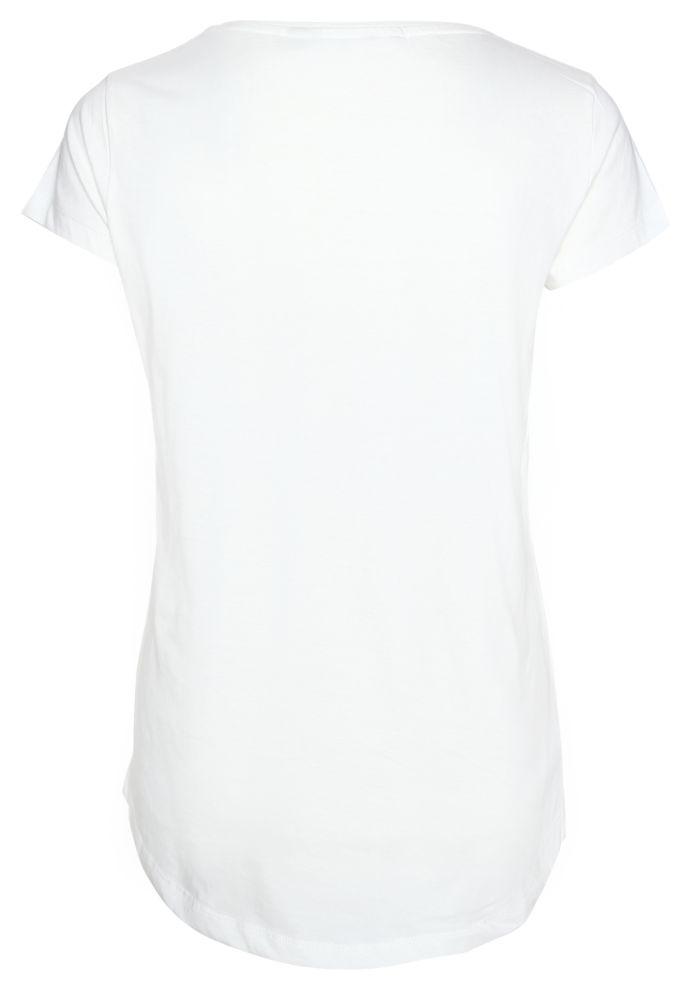 Vorschau: Damen T-Shirt mit Feder-Print