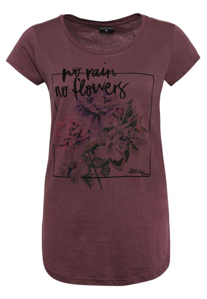 Shirt mit buntem Blumen Print