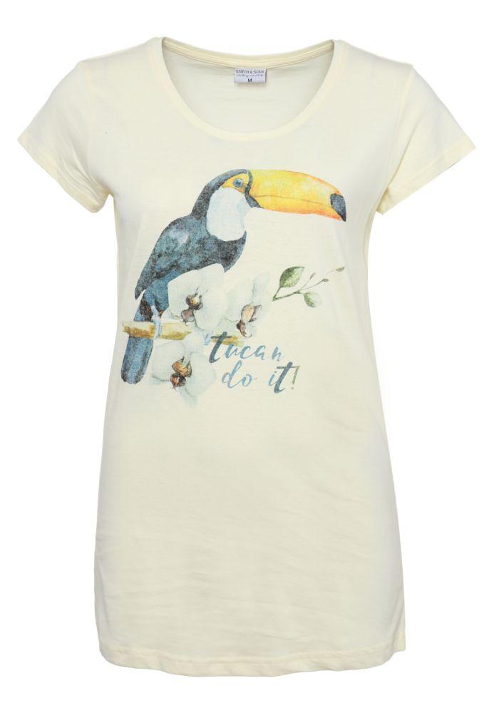 Damen T-Shirt mit Tucan-Print