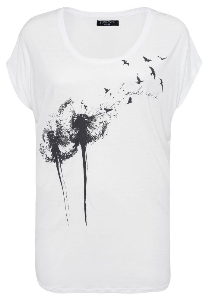 Legeres T-Shirt - Pusteblume