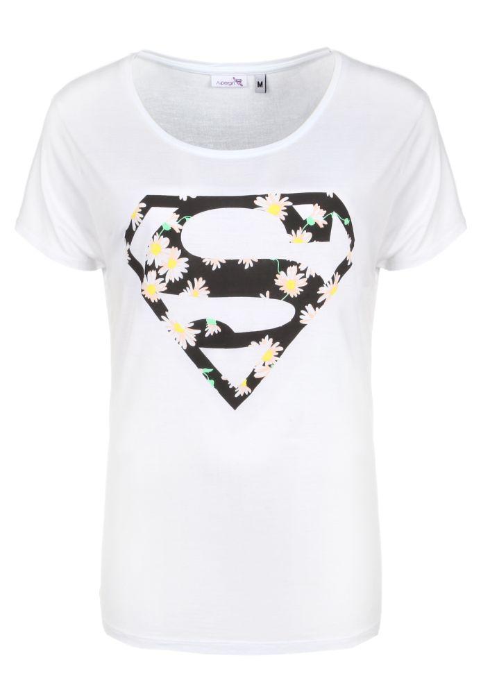 Vorschau: Superman Shirt - Blumen
