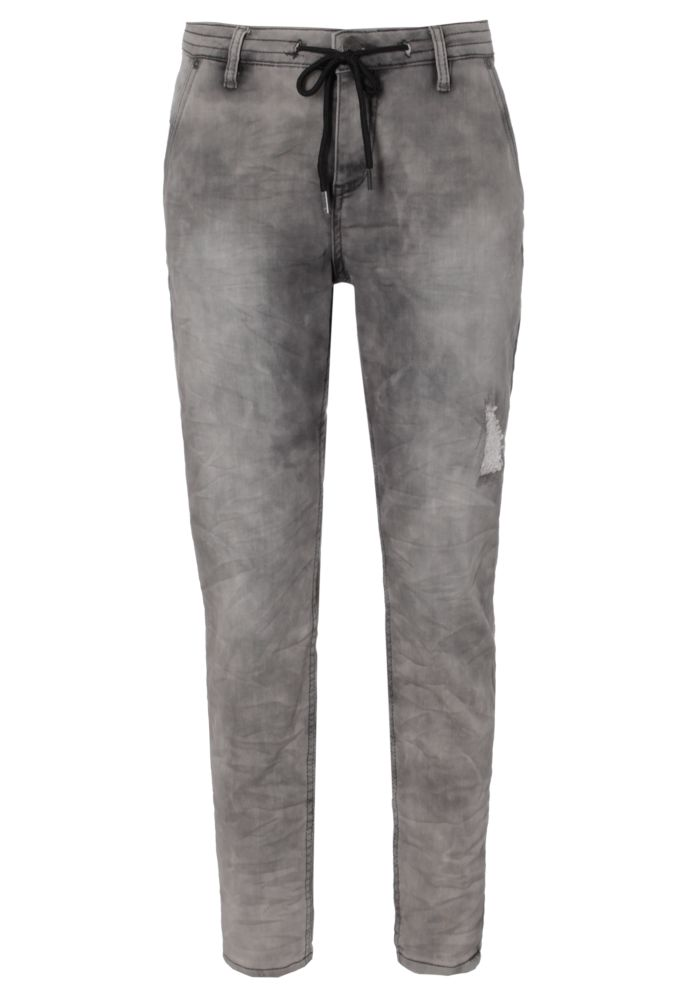 Graue Damen Sweat Jeans