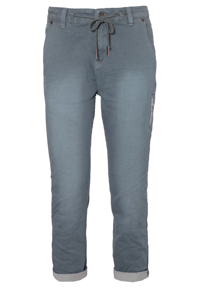 Damen Sweat Capri Jeans