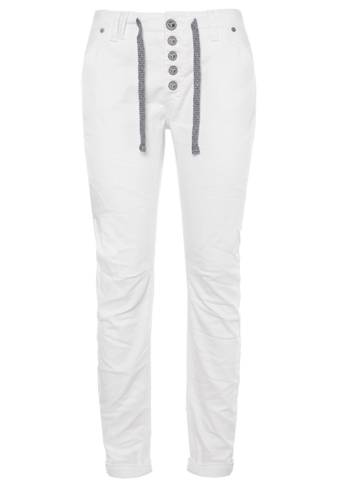 Weiße Damen Sweat Jeans