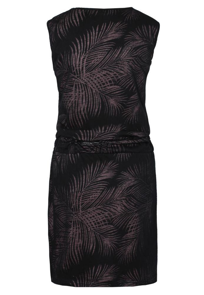Vorschau: Midi Kleid mit Palmen-Muster