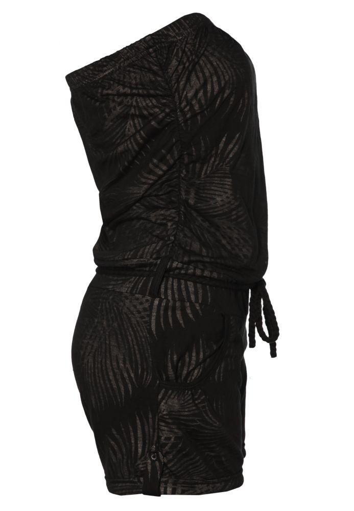 Vorschau: Jumpsuit mit Palmen-Muster