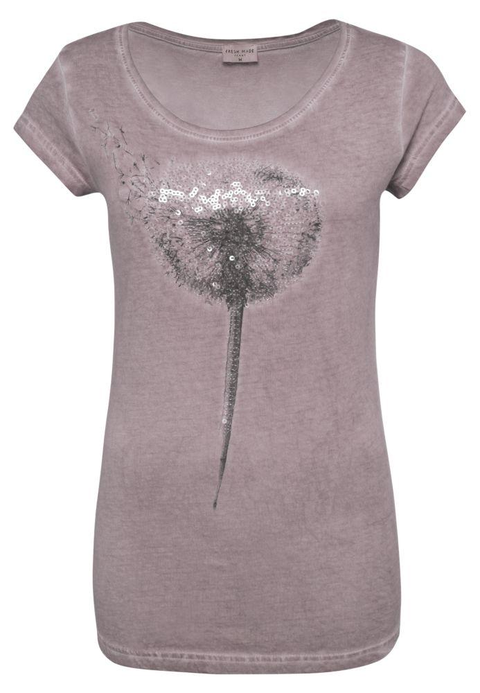 T-Shirt - Pailletten Pusteblume