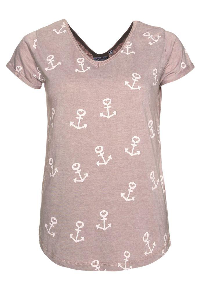 T-Shirt - Allover Anker-Print