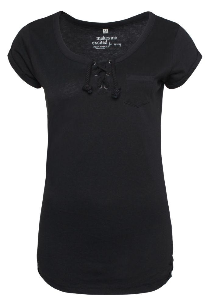 Basic T-Shirt mit Kordeln