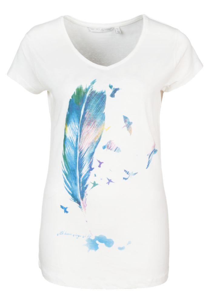 Damen Feder T-Shirt