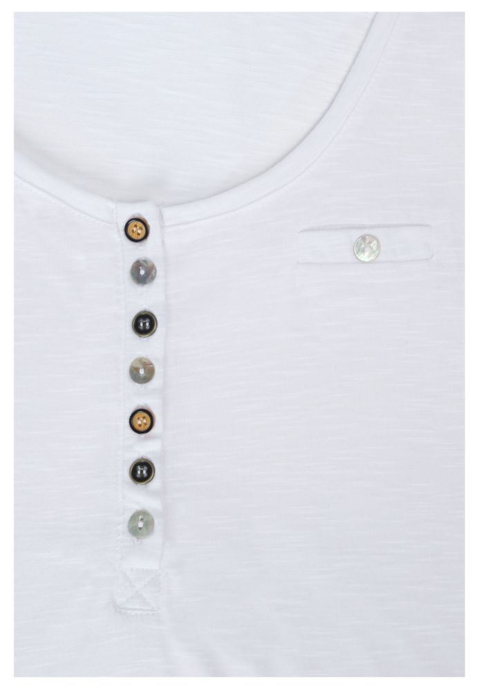 Vorschau: Damen T-Shirt mit Knöpfen