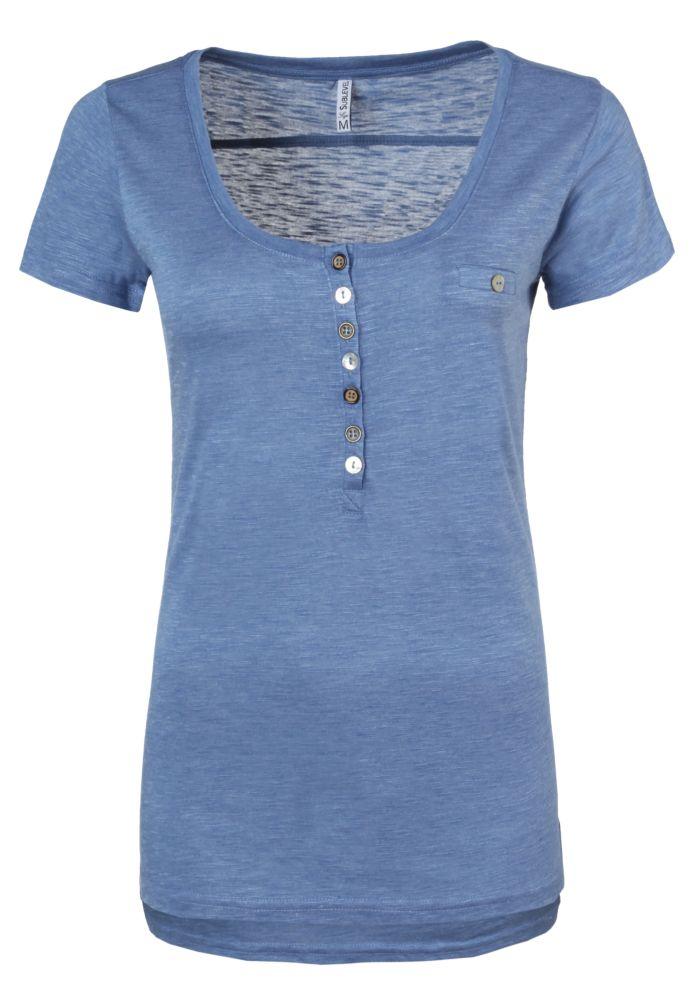 Damen T-Shirt mit Knöpfen