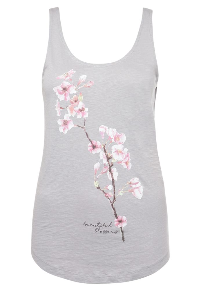 Damen Top - Blumen Print