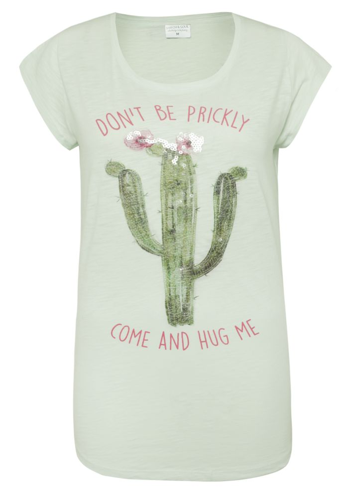 T-Shirt - Pailletten Kaktus