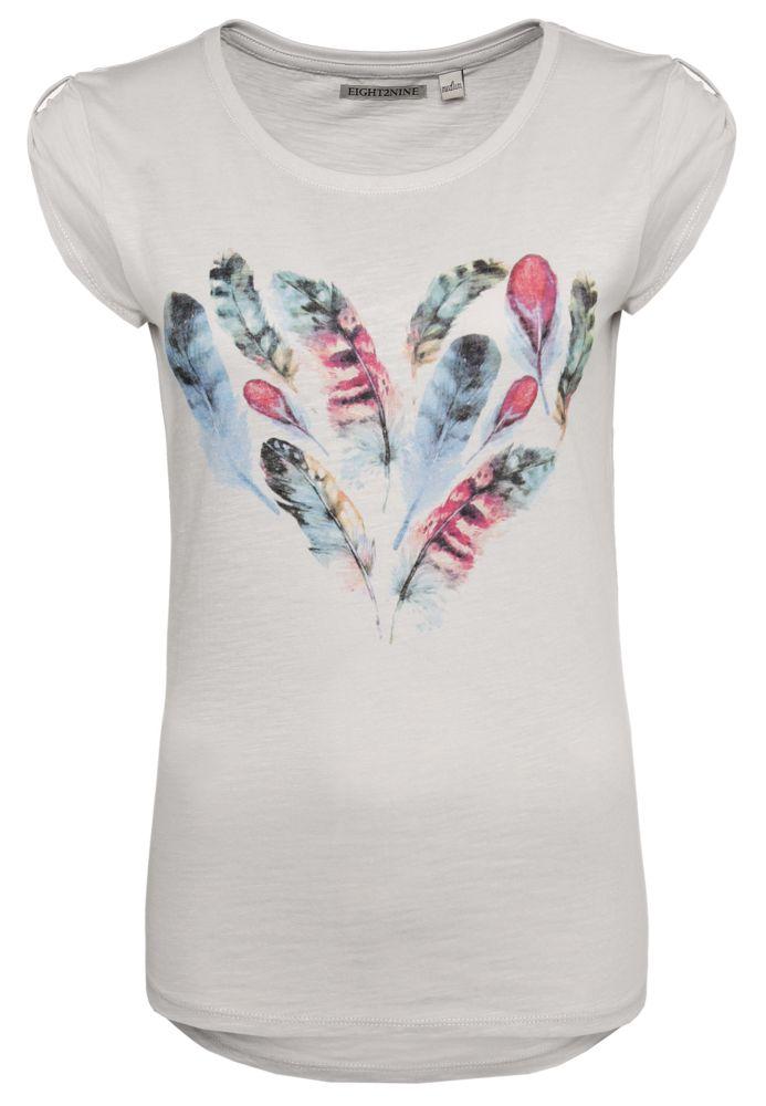 T-Shirt - Federn-Herz