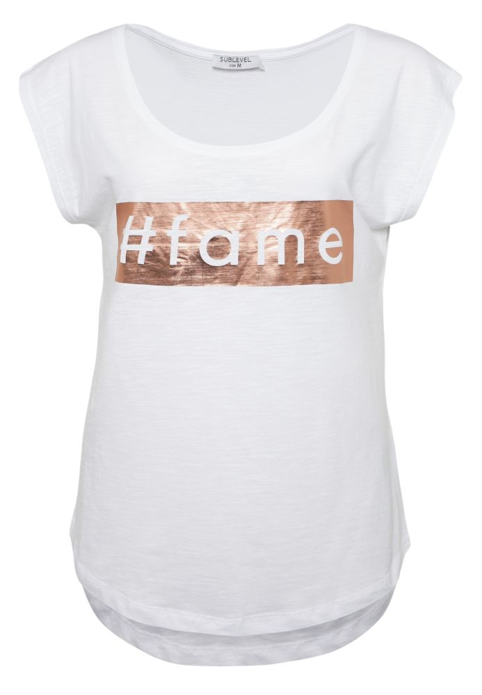 T-Shirt - Metallic-Print