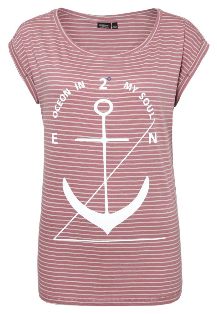 Streifen T-Shirt mit Anker