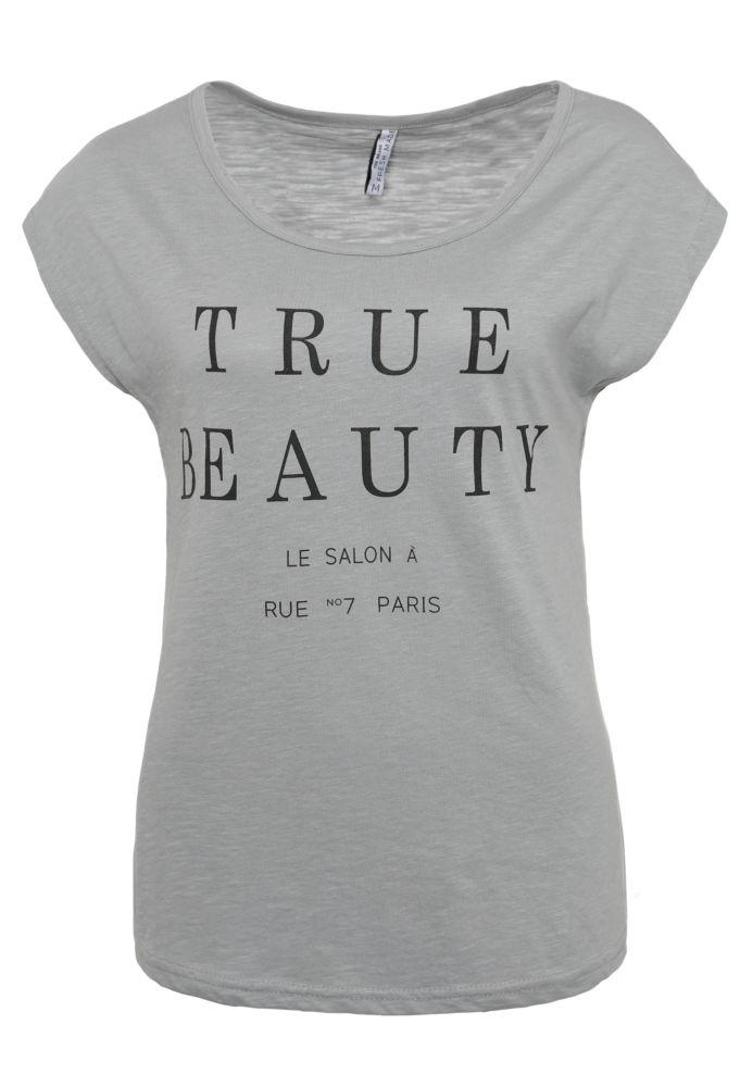 Weites Shirt - Statement-Print