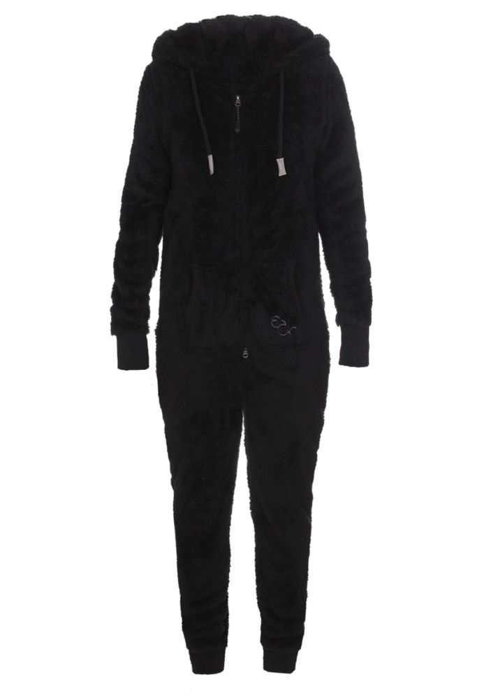 eight2nine damen jumpsuit teddy fleece overall ganzk rperanzug ohren ebay. Black Bedroom Furniture Sets. Home Design Ideas