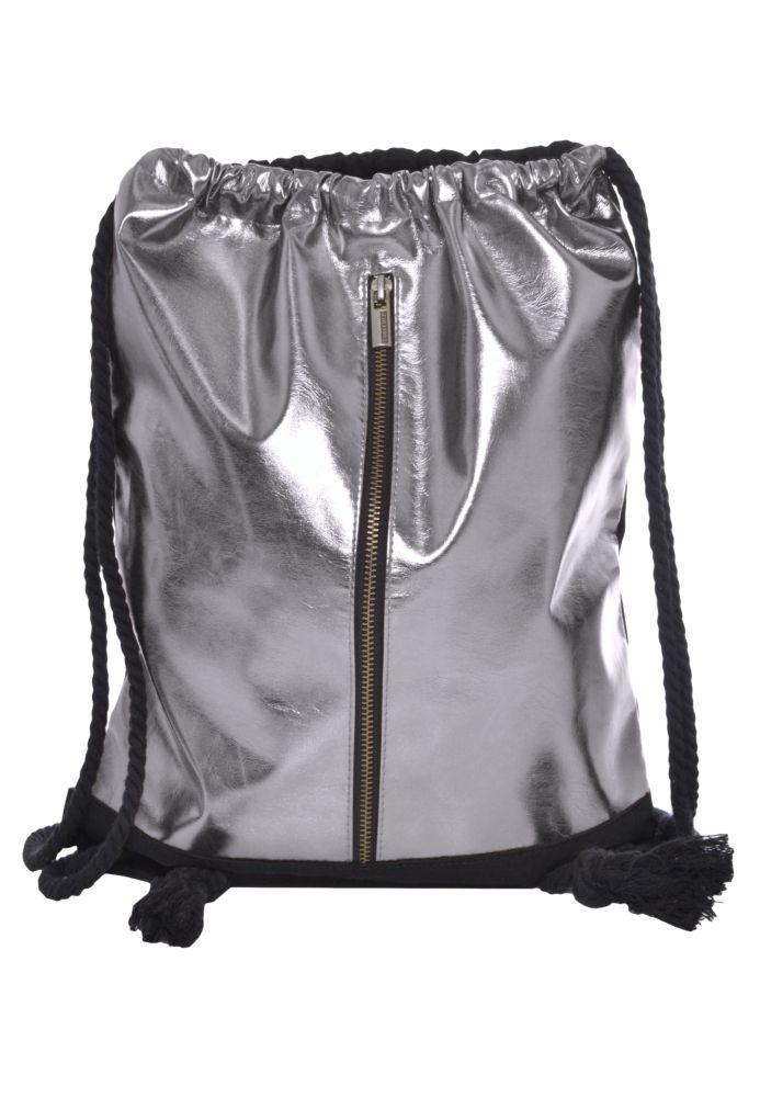 Metallic Turnbeutel mit Zipper