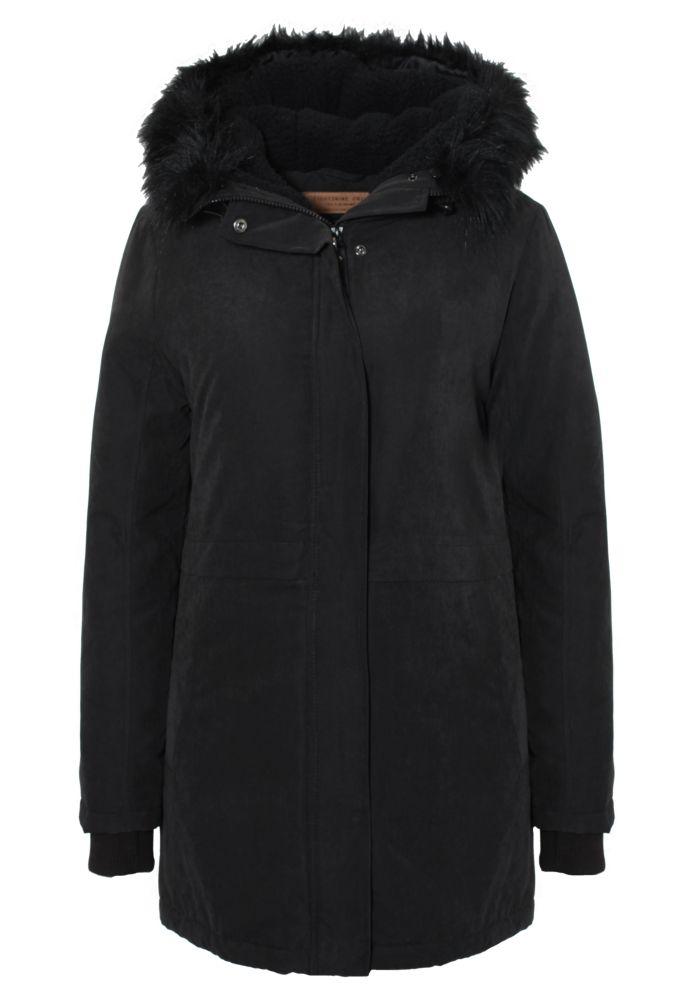 Damen Mantel mit Fellkapuze