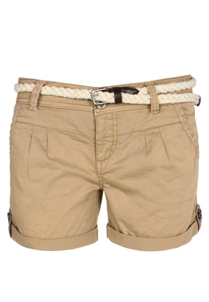 Shorts mit Spitze & Gürtel