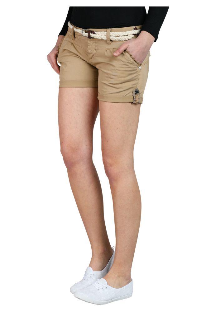Vorschau: Shorts mit Spitze & Gürtel