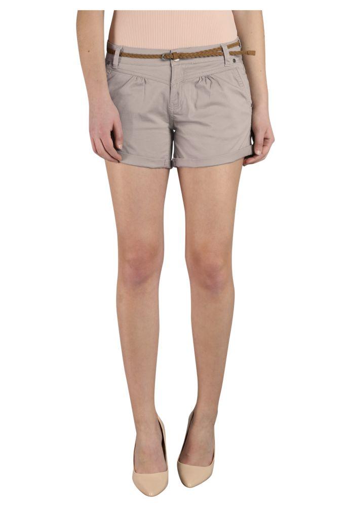 Vorschau: Stretch Shorts mit Gürtel