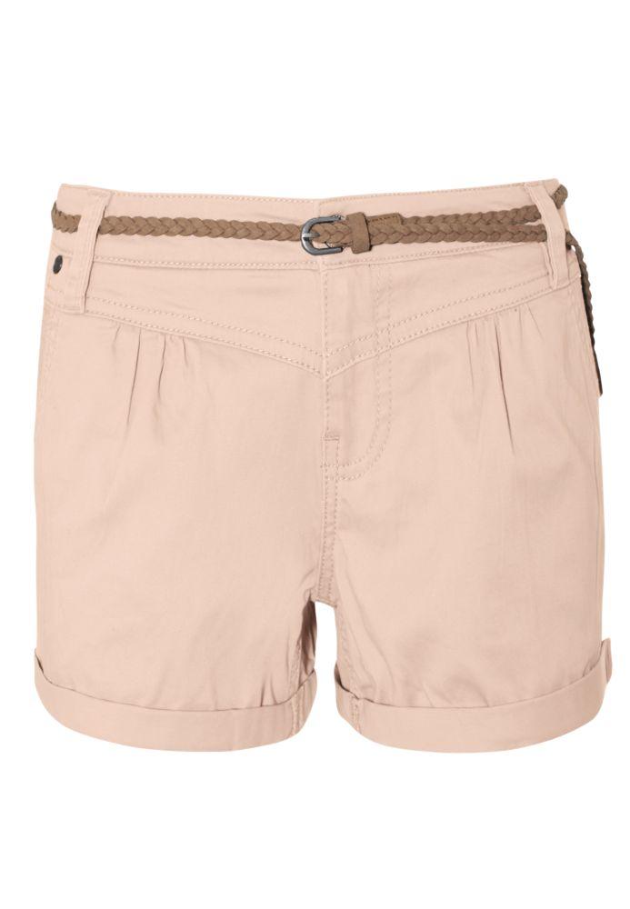 Stretch Shorts mit Gürtel