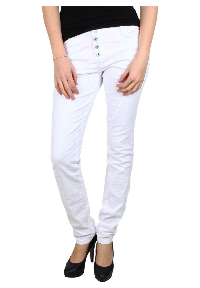 Weiße Slim Fit Hose