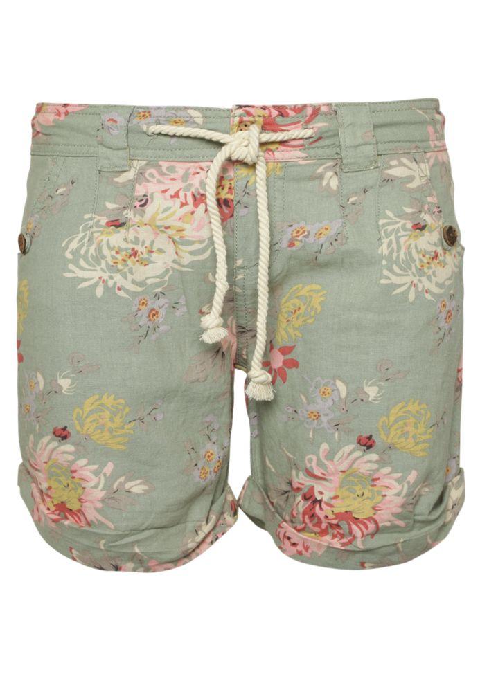 Blumenprint Leinen Shorts