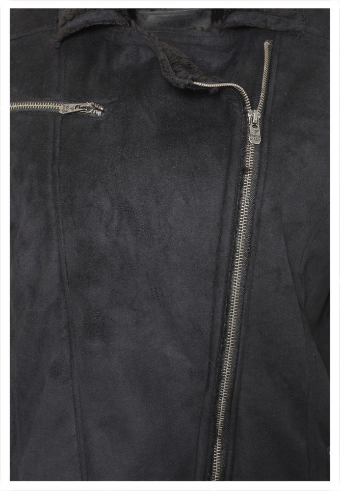 Vorschau: Velours Jacke mit Fake Fur