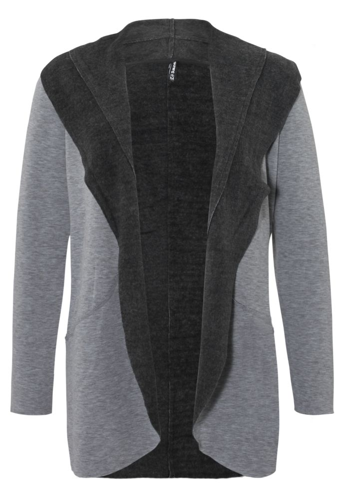 Melierter Fleece Cardigan