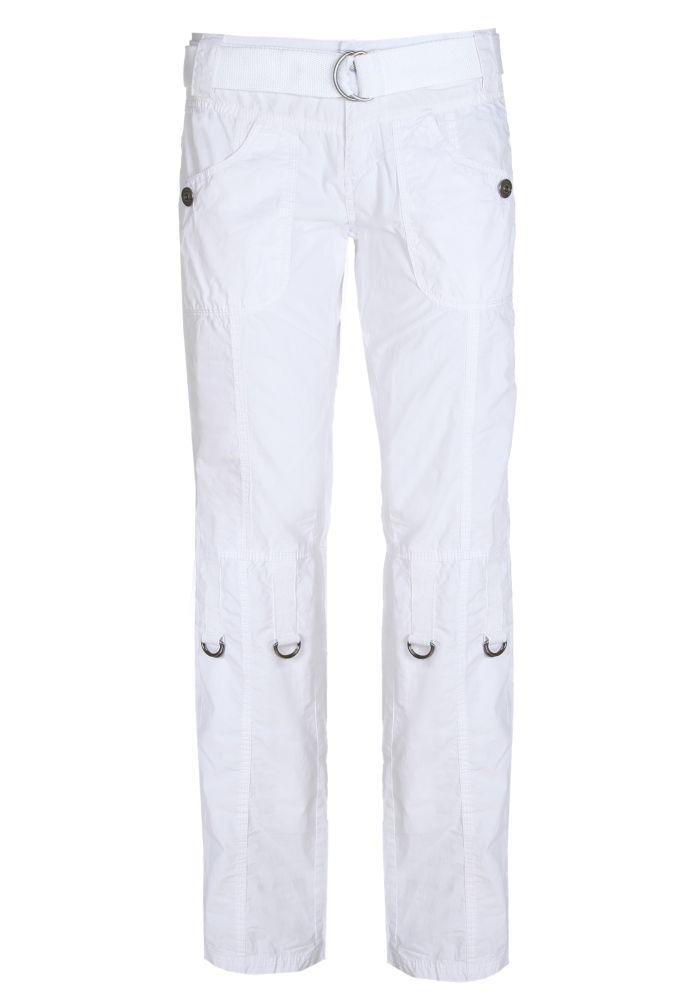 Weiße Cargohose