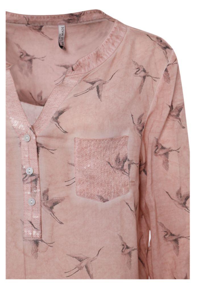 Vorschau: Bluse mit Kranich-Print